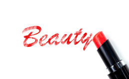 Red lipstick beauty concept Royalty Free Stock Images