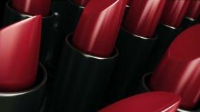 Red lipstick stock video
