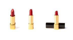 Red lipstick isolated on white background Royalty Free Stock Images