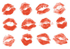 Red lipstick kiss Royalty Free Stock Photo