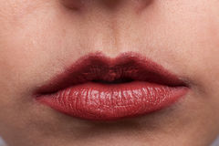 Red lipstick stock images