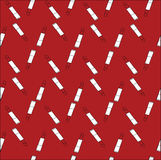 Red lipstick. print fabric. print with lipstick. Stock Photos