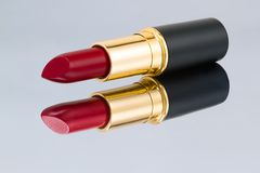 Red lipstick with reflection Stock Photography