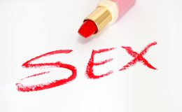 Red lipstick and sex Stock Photos