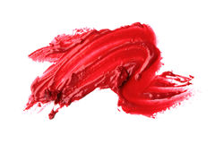 Red lipstick smears. Smears of red lipstick isolated on white Stock Image