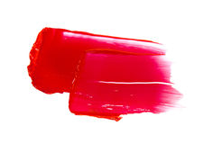 Red lipstick smudge Royalty Free Stock Images