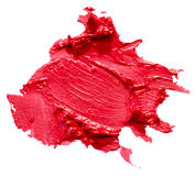Red lipstick stroke isolated on the white background Stock Image
