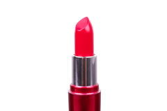 Red lipstick on  table Royalty Free Stock Photography