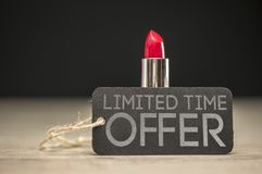 Limited time offer on beauty products Stock Photography