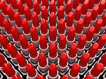 Red lipstick tube background Royalty Free Stock Image