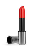 Red Lipstick. A tube of red lipstick on white background. Computer generated image with clipping path Royalty Free Stock Images
