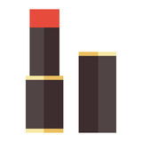 Red lipstick vector illustration. Royalty Free Stock Photo
