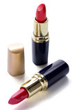 Red lipstick on white background Royalty Free Stock Photos