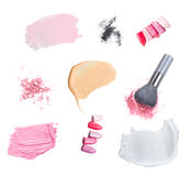 Red lipstick on white Royalty Free Stock Images