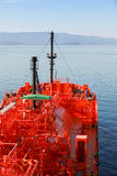 Red Liquefied Petroleum Gas tanker underway Stock Photos