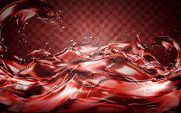 Red liquid flow. Element, can be used as background, 3d illustration royalty free illustration
