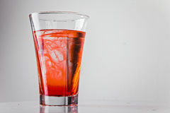 Red liquid in a glass Royalty Free Stock Photos