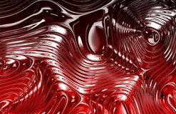 Red Liquid Metal Texture Royalty Free Stock Images