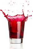 Red liquid splash Stock Image