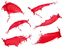 Red liquid splash collection Royalty Free Stock Image