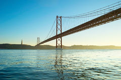 Red Lisbon Bridge Royalty Free Stock Images