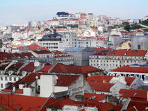 Red Lisbon Rooftops Royalty Free Stock Photo