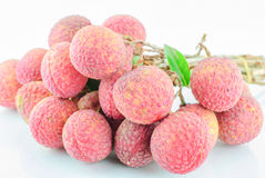 Red Litchi fruit isolated Stock Photography