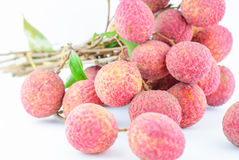 Red Litchi fruit isolated Royalty Free Stock Photos