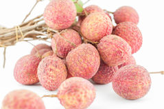 Red Litchi fruit isolated Royalty Free Stock Image