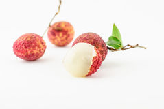Red Litchi fruit isolated Stock Image
