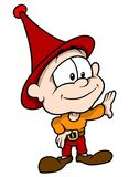 Red Little Elf Stock Photography