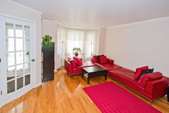Red living room. Royalty Free Stock Image