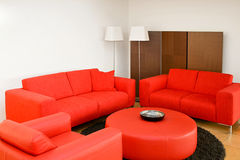 Red living room Stock Photography
