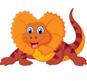 Red lizard cartoon Royalty Free Stock Photo