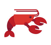 Red lobster illustration Royalty Free Stock Photos
