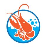 Red Lobster Logo. Illustration art vector design Stock Photos