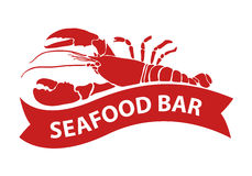 Red lobster, vector. Clip art red lobster on white background, EPS 10 Stock Photo