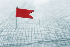Red locator flad Royalty Free Stock Images