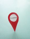 Red locator point Royalty Free Stock Photos