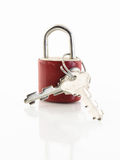 Red lock Royalty Free Stock Images
