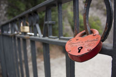 Red Lock. Stock Photo