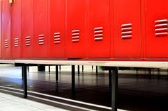 Red locker Stock Photography