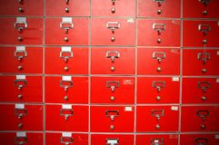 Red locker Royalty Free Stock Image