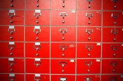 Red locker Royalty Free Stock Image
