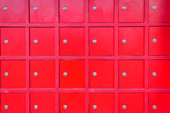 Red locker Royalty Free Stock Photo