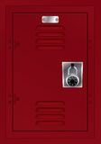 Red Locker and Combination Lock Illustration Royalty Free Stock Image