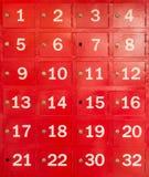 Red locker Royalty Free Stock Photography
