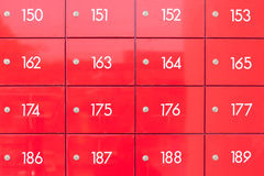 Red locker Stock Photography