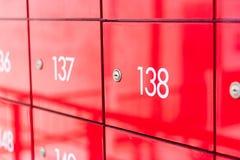 Red locker Stock Image