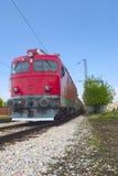 Red locomotive 2 Stock Photo